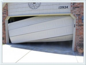 garage door roller off track Houston